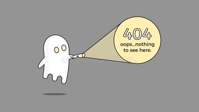 Illustration pour l'erreur 404 Le concept de calibre de page Web de vecteur pour la page pas a trouvé le problème Conception de p illustration stock