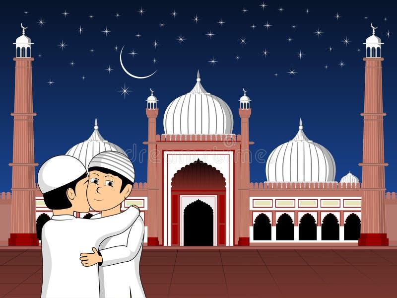 Illustration pour la célébration de Mubarak d'eid illustration stock