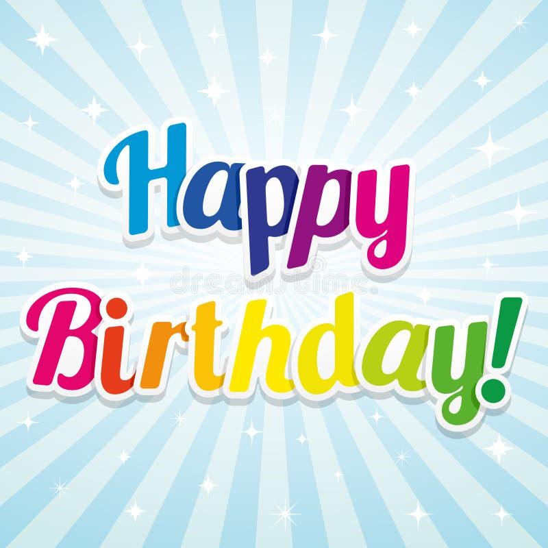 Illustration pour la carte de joyeux anniversaire illustration libre de droits