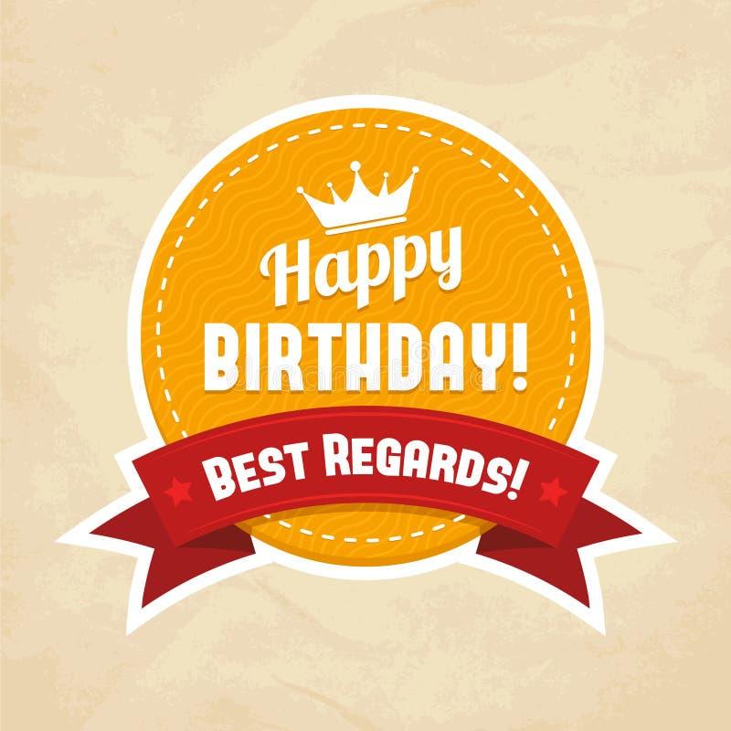 Illustration pour la carte de joyeux anniversaire illustration de vecteur
