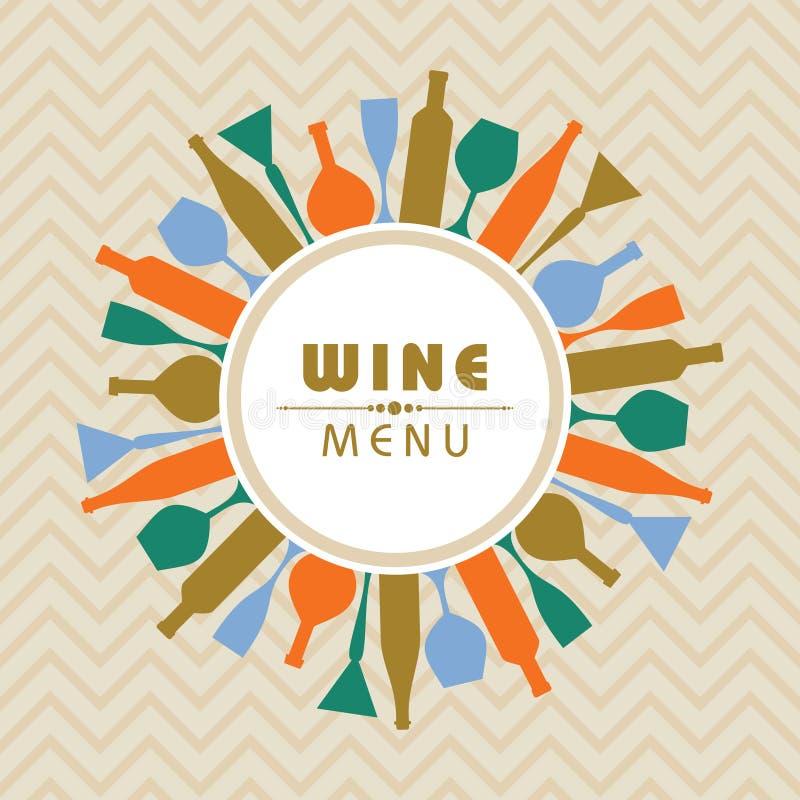 Illustration pour le vecteur d'actions de menu de boutique de vin illustration libre de droits