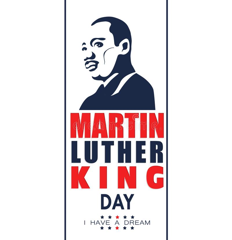 Illustration pour Martin Luther King Day sur le fond blanc illustration de vecteur
