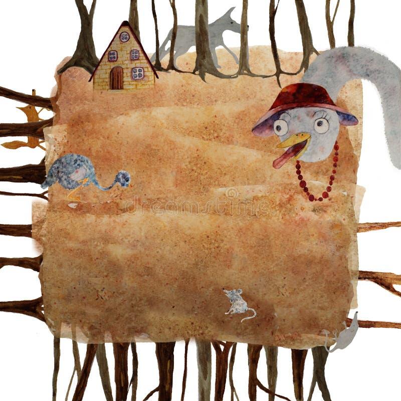 Illustration pour un poème au sujet d'autruche illustration de vecteur