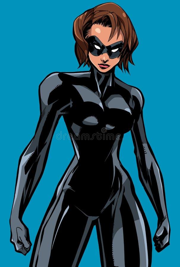 Superheroine Battle Mode No Cape royalty free illustration