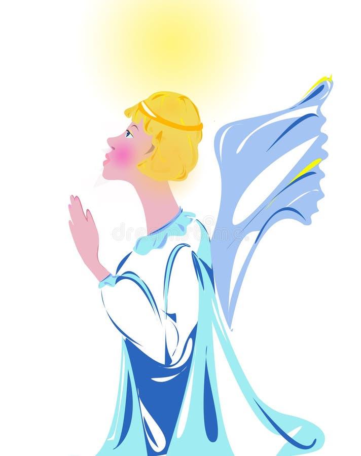 Illustration Praying Angel Free Stock Photography