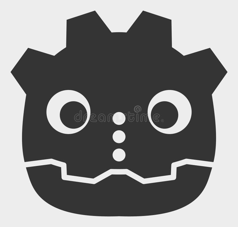 Illustration principale d'icône de vecteur de robot illustration de vecteur