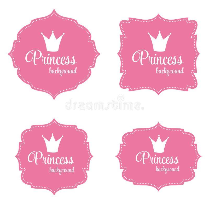 Illustration Prinzessin-Crown Frame Vector vektor abbildung