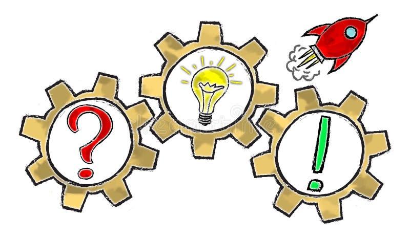 Concept of problem solving royalty free illustration