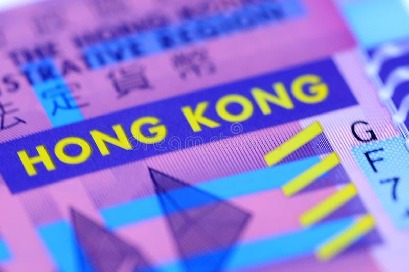 illustration proche de Hong Kong du dollar vers le haut photographie stock