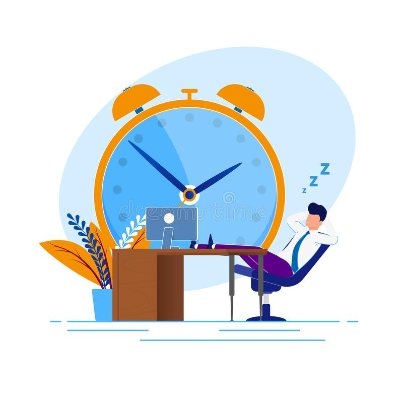 Free Illustration Procrastination Time At Work Cartoon. Royalty Free Stock Image - 149514126