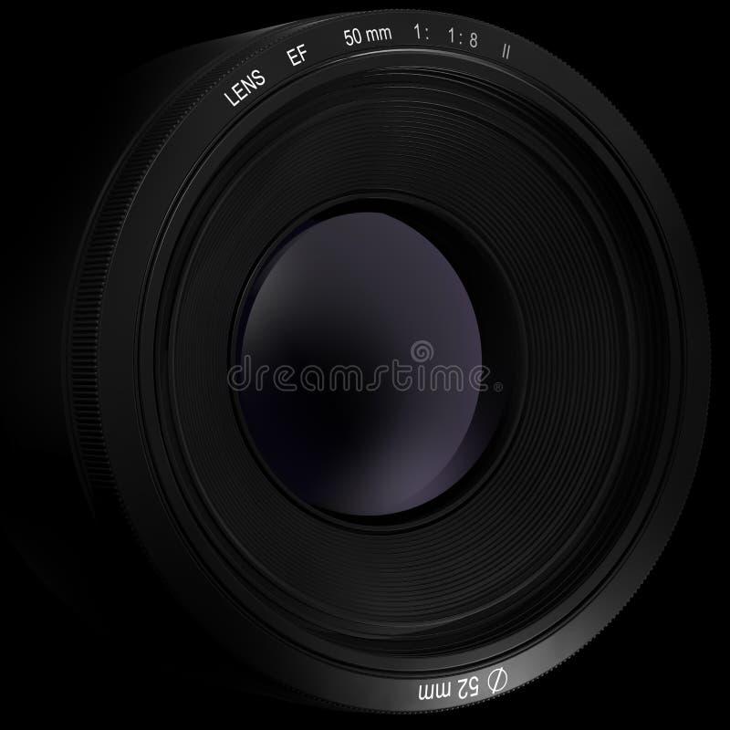 Illustration professionnelle de l'objectif de caméra 3d illustration stock