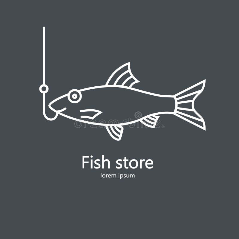 Illustration propre et simple d'un saumon illustration libre de droits