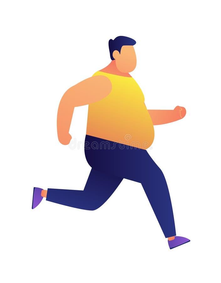 Illustration pulsante de vecteur d'homme de poids excessif illustration libre de droits
