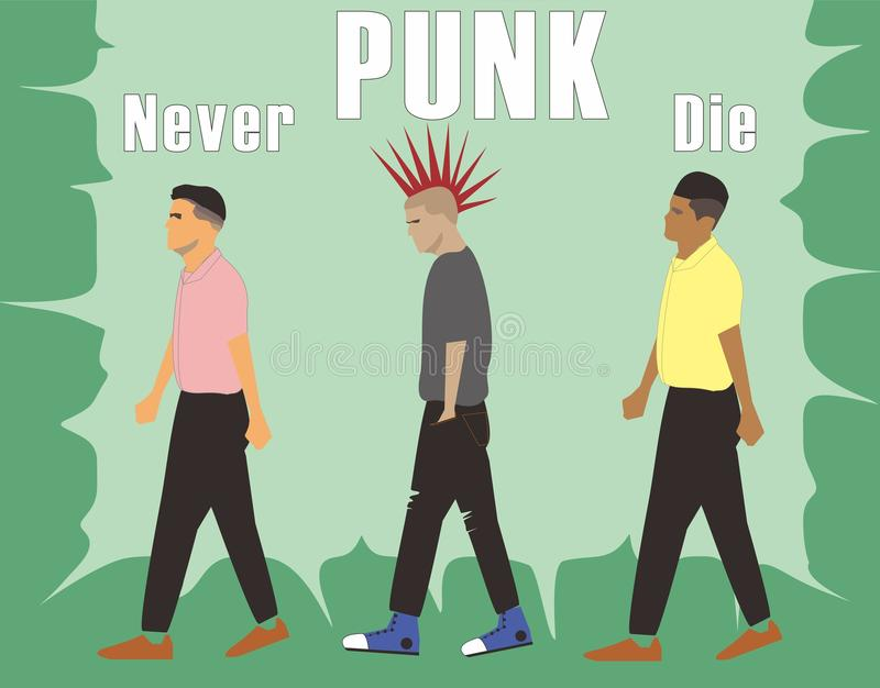 Punk Never Die vector illustration