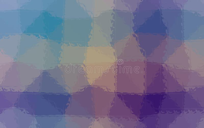 Illustration of purple, green, yellow and blue Mosaic through glass bricks background. Illustration of purple, green, yellow and blue Mosaic through glass vector illustration