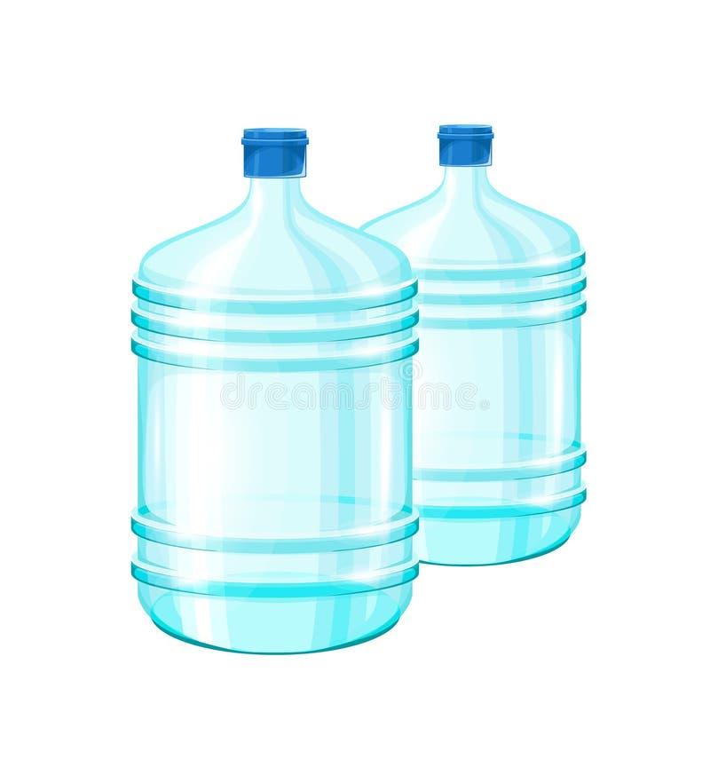 Illustration réaliste avec une bouteille de l'eau illustration de vecteur