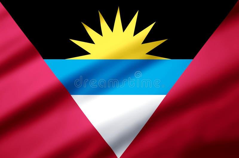 Illustration réaliste de drapeau d'Antigua et de Barbuda illustration libre de droits
