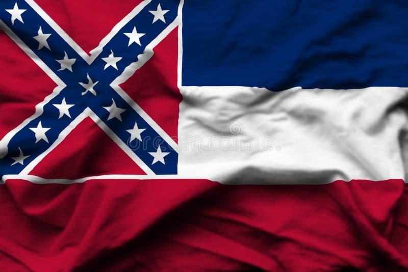 Illustration réaliste de drapeau du Mississippi illustration libre de droits