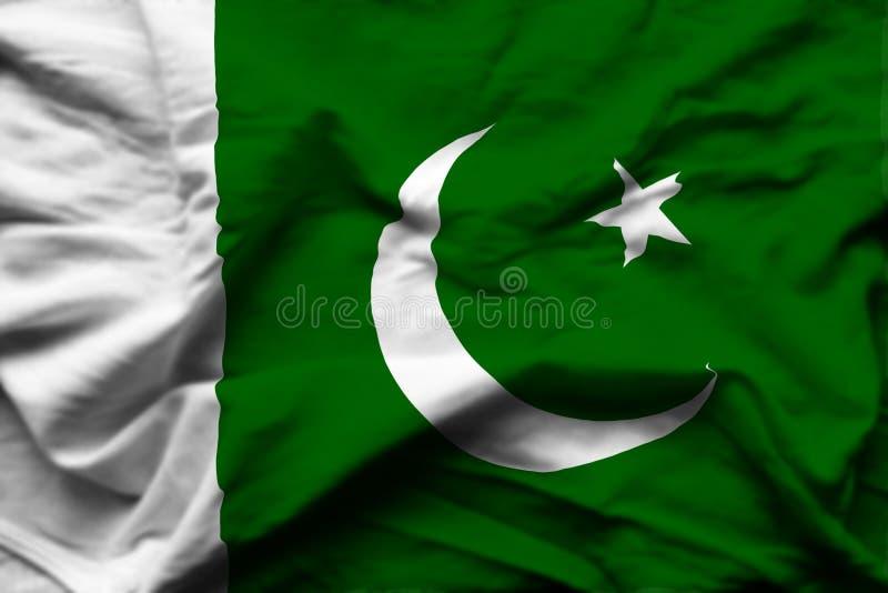 Illustration réaliste de drapeau du Pakistan illustration stock