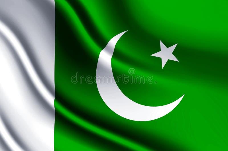 Illustration réaliste de drapeau du Pakistan illustration libre de droits