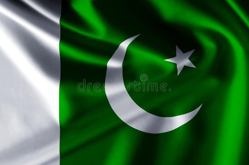 Illustration réaliste de drapeau du Pakistan illustration de vecteur