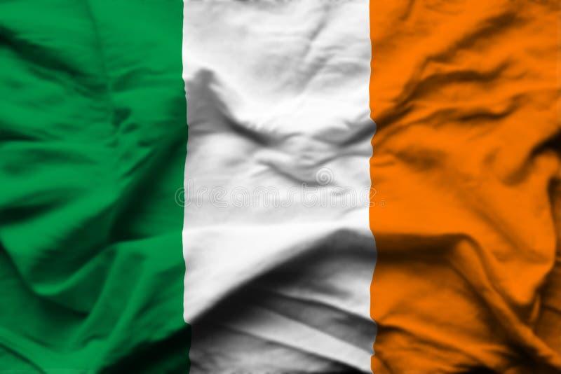 Illustration réaliste de drapeau de l'Irlande illustration libre de droits