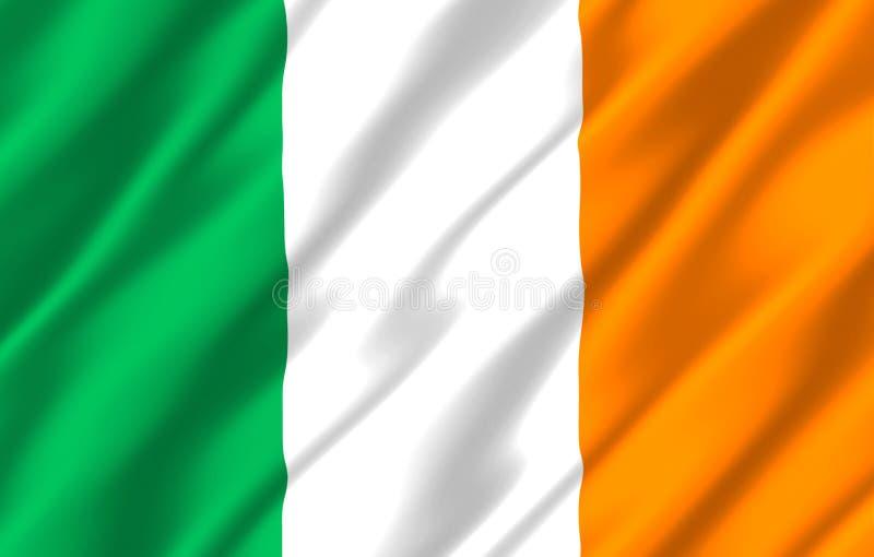 Illustration réaliste de drapeau de l'Irlande illustration de vecteur