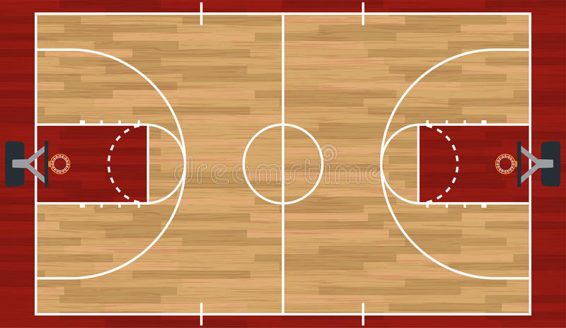 Illustration réaliste de terrain de basket illustration de vecteur