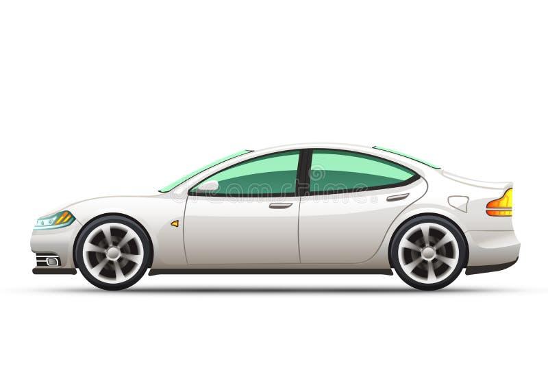 Illustration réaliste de vecteur d'une voiture illustration stock