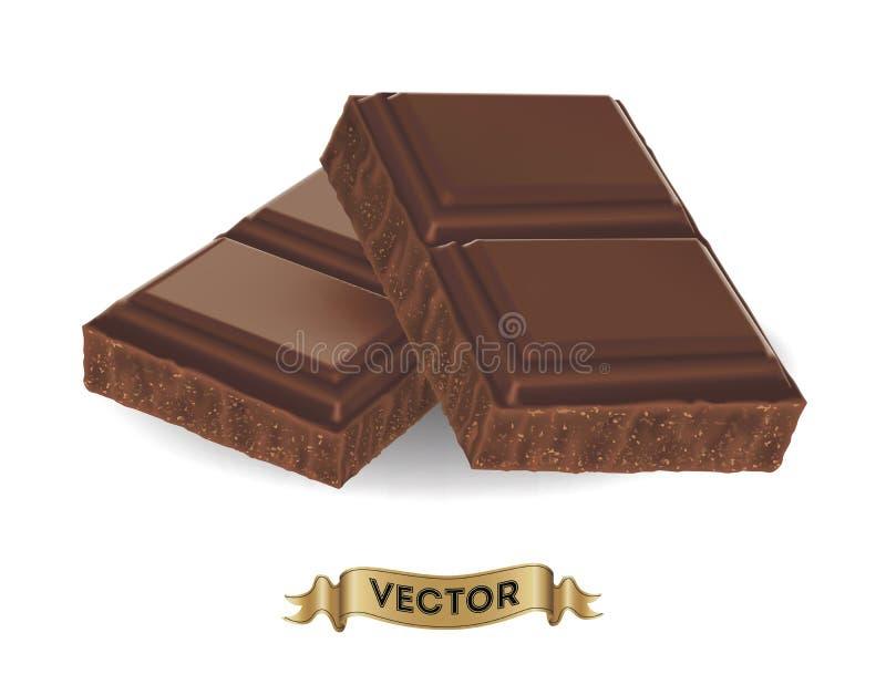 Download Illustration Réaliste De Vecteur De Barre De Chocolat Cassée Illustration de Vecteur - Illustration du délicieux, coupé: 77158219