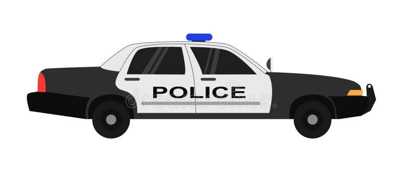 Illustration réaliste de vecteur de voiture de police d'isolement sur le fond blanc illustration stock