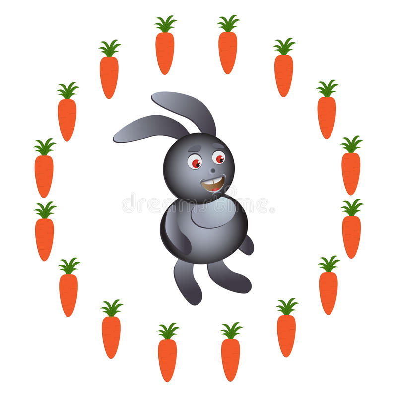 Download Illustration Of Rabbit With Carrot Stock Vector - Image: 33123192