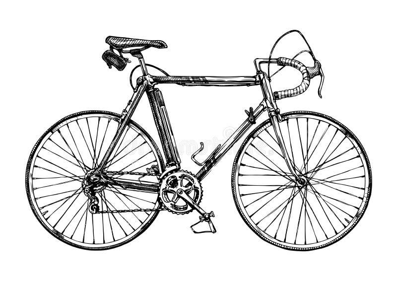 Illustration of racing bicycle stock illustration