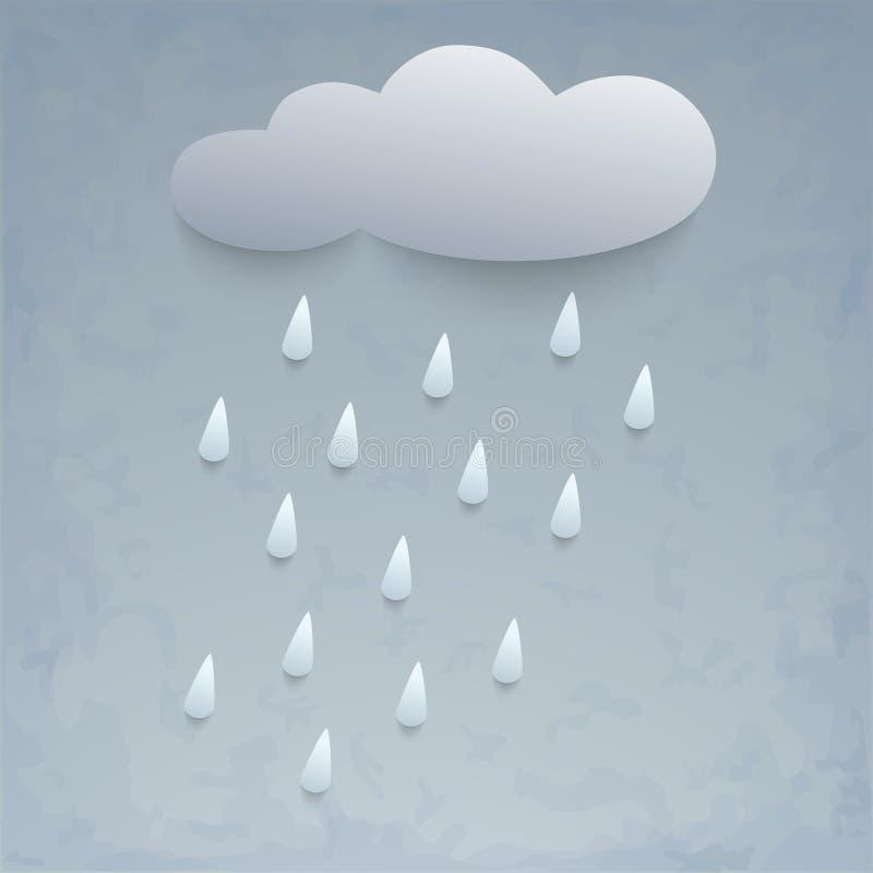 Illustration of rain and cloud. royalty free illustration