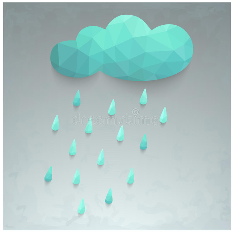 Illustration of rain and cloud royalty free illustration
