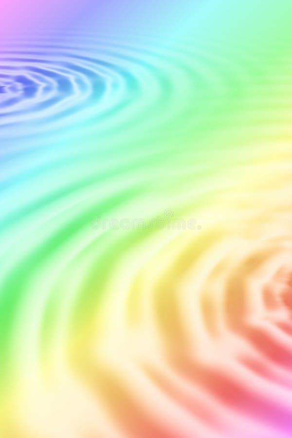 Illustration of rainbow water ripples royalty free stock image