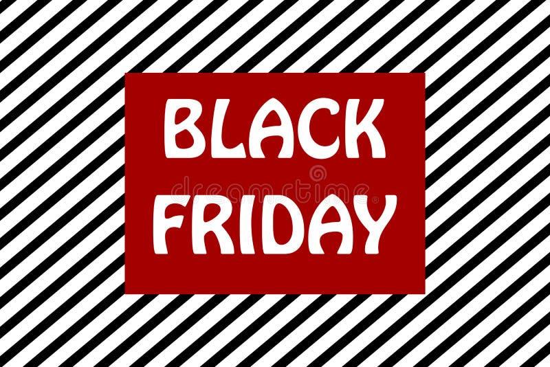 Illustration rayée noire de fond de promotion des ventes de vendredi illustration libre de droits