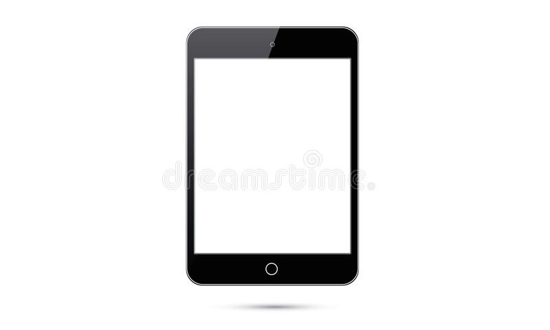 Vector Android Ipad Realistic Android Tablet. Illustration of realistic tablet android touch screen electronic devices. Realistic mock up or ipad icon sign logo stock illustration