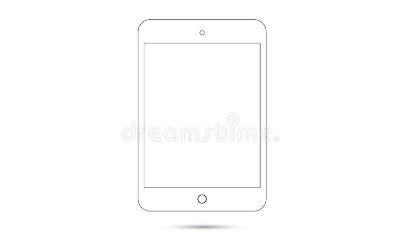Vector Android Ipad Realistic Android Tablet stock illustration