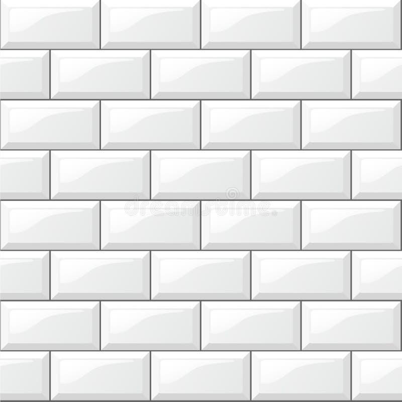 White tiles background. Illustration of rectangular horizontal white tiles background royalty free illustration