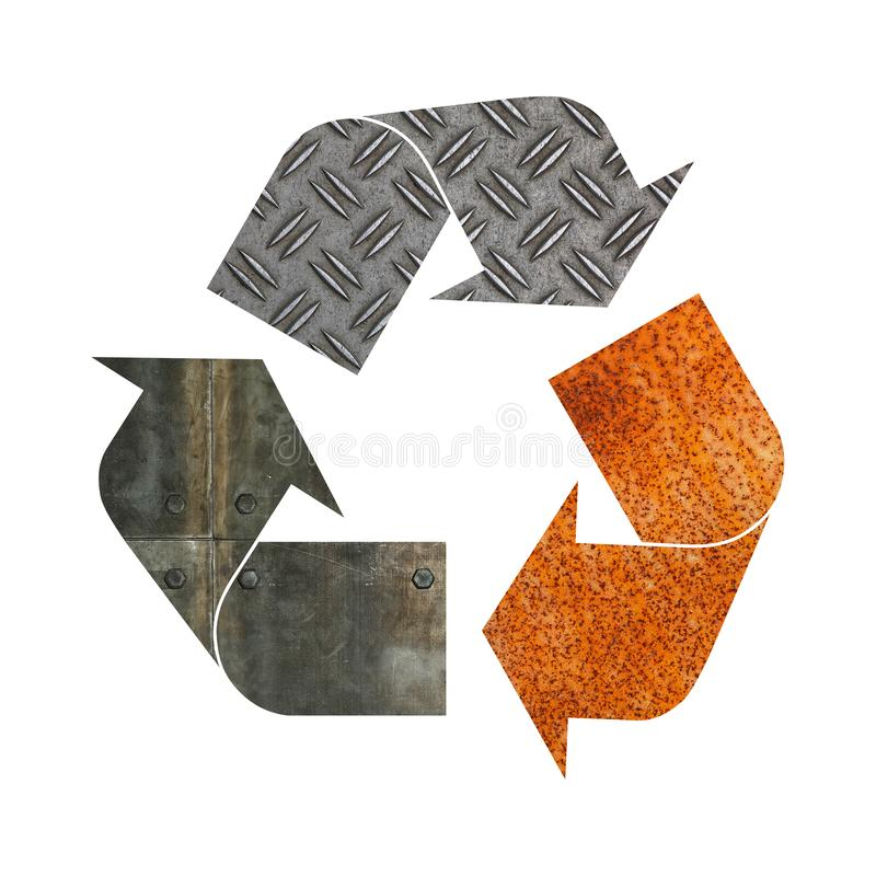 Recycling Symbol Recycling Galvanized Metal Recycling Symbol Sign 12 in Dia