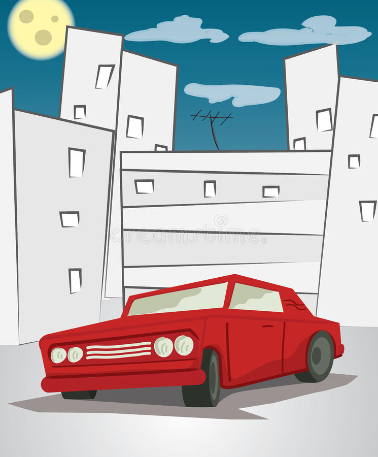 Download Red car stock illustration. Illustration of downtown - 29898774