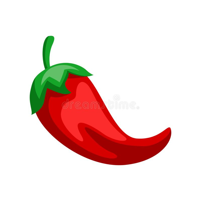 Illustration of red chili pepper. royalty free illustration