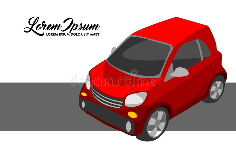 Illustration of Red City Car stock illustration