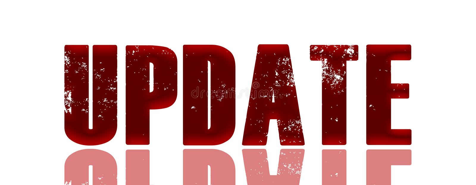 Red update sign royalty free illustration