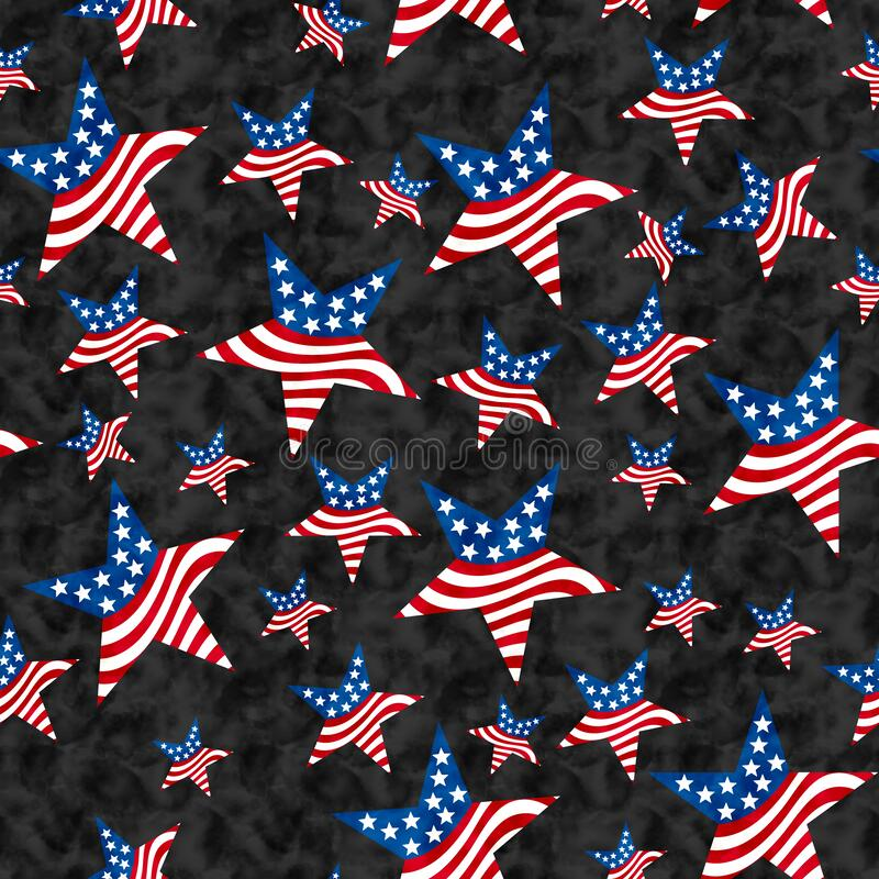 Free Illustration Red, White And Blue USA Flag Stars Pattern Background That Is Seamless Royalty Free Stock Image - 215879306