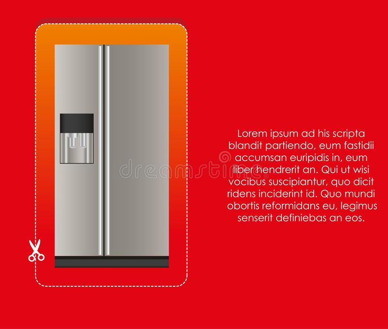 Download Illustration Of A Refrigerator Stock Vector - Image: 25352769