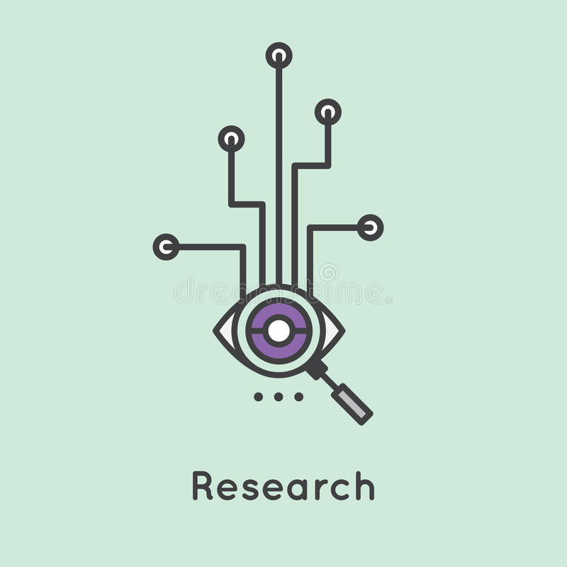 Illustration of Research Process royalty free illustration