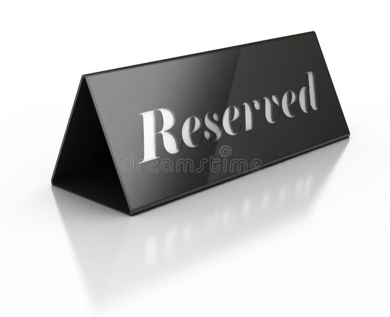 Illustration of reservation sign. 3d Illustration of reservation sign vector illustration
