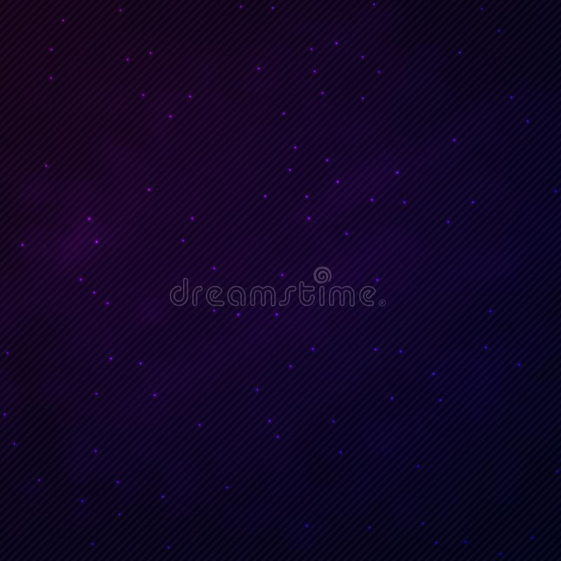 Illustration of 1980 Retro Neon Poster. Outer Space Background vector illustration
